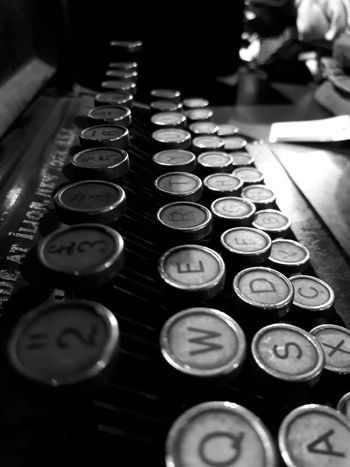In A Row Indoors  No People Communication Typewriter Close-up Day Writers Jozi Soweto Typewriter Keys SowetoSouthAfrica Smartphone Photos Smartphone Photographer Smartphonephotography EyeEm Best Shots HD Sophisticated Lifestyles Smartphone Johannesburg Keys Blackandwhite Photography Black And White Collection