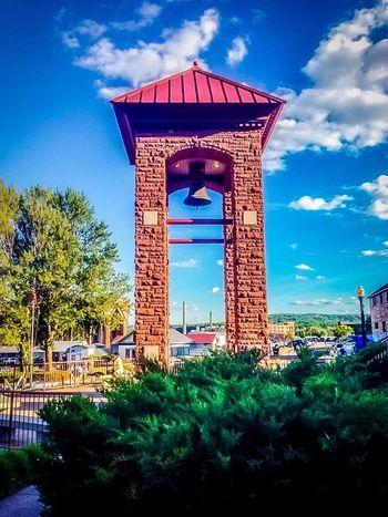 Bell Tower Marquette Michigan Upper Peninsula Lower Harbor Lake Superior Portrait Brick Architecture bush Bush Blue Sky Clouds