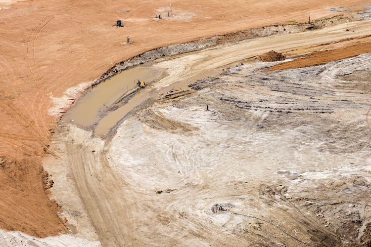 Aerial View Day Digging High Angle View Industry Landscape Mining Nature No People Outdoors Quarry Sand