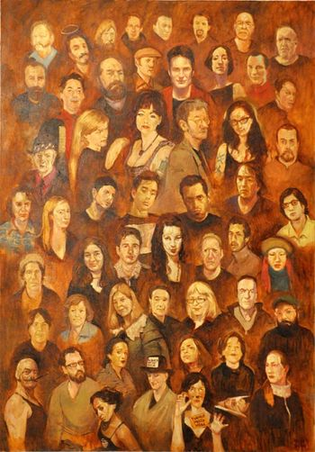 Stuckism Farsam Sangini Art ArtWork Oil Painting Portrait Painting Art Exhibition