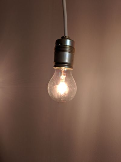 Filament Illuminated Hanging Light Bulb Electricity  Single Object Lighting Equipment Close-up