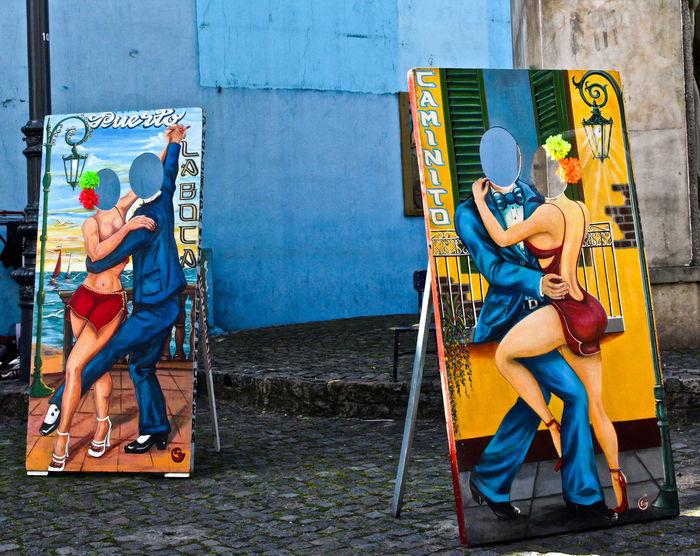 Caminito, Buenos Aires. Caminito, Buenos Aires Colors Day Full Length Lovers Outdoors Tango Tango Dancers