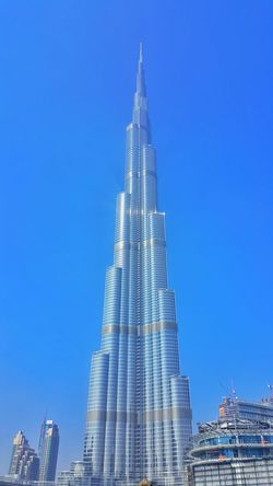 Burj Khalifa Building Exterior Architecture Outdoors Clear Sky Skyscraper No People Blue Sky City Low Angle View Day Photooftheday Followme