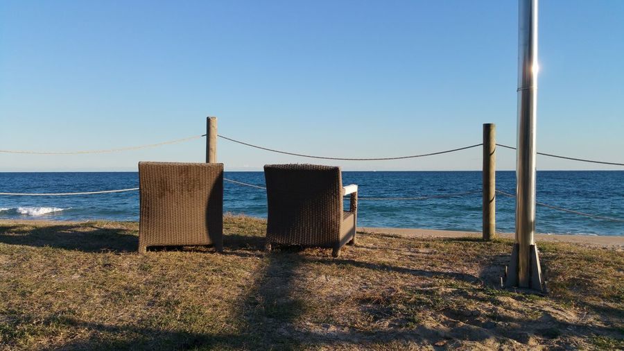 Watching the sea Old Armchair Wonderful Balcony Empty Chairs Nor He Or She