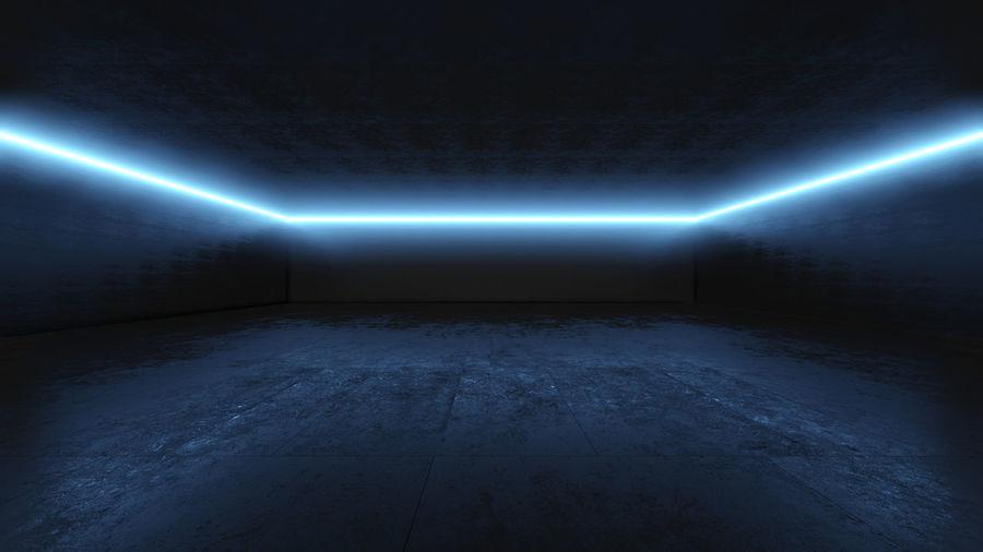 Illuminated lights in dark room