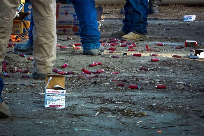 Thanksgiving Day Shotgun Shells Shotgun Shooting Ammunition Target Practice Clay Pigeon Clay Pigeon Shooting Competition Men Shoes Standing This Is Masculinity