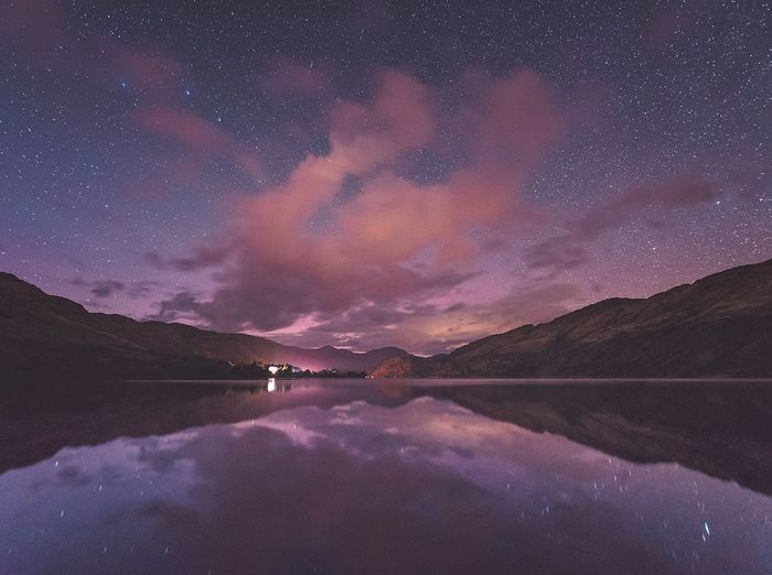 Loch Lomond, Scotland Tranquil Scene Reflection Illuminated Star - Space Scenics Star Field Night Water Beauty In Nature Astronomy Awe Star - Space Scenics Night Tranquil Scene Mountain Star Field Infinity Reflection Astronomy Majestic Sky Beauty In Nature Tranquility Water