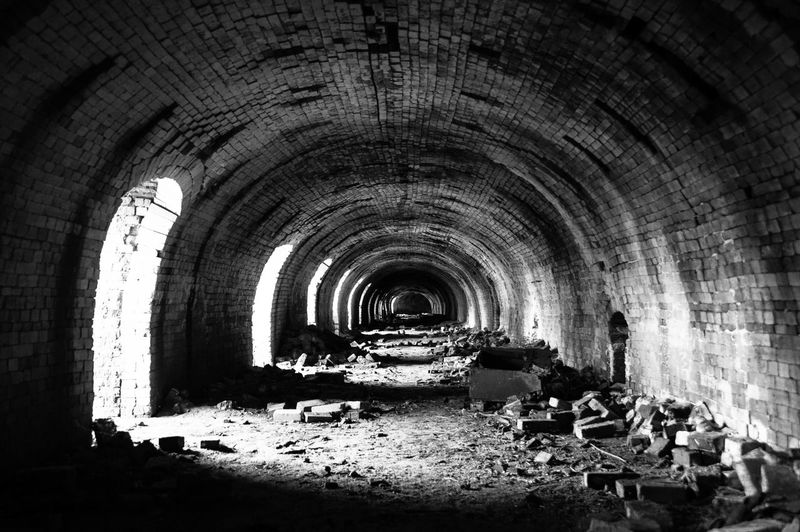 Abandoned Arch Arched Architecture Building Built Structure Damaged Day Decline Deterioration Empty History Indoors  Industry Light At The End Of The Tunnel No People Obsolete Old The Past The Way Forward Tunnel EyeEmNewHere