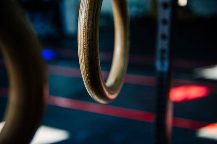 Close-Up Of Gym Rings
