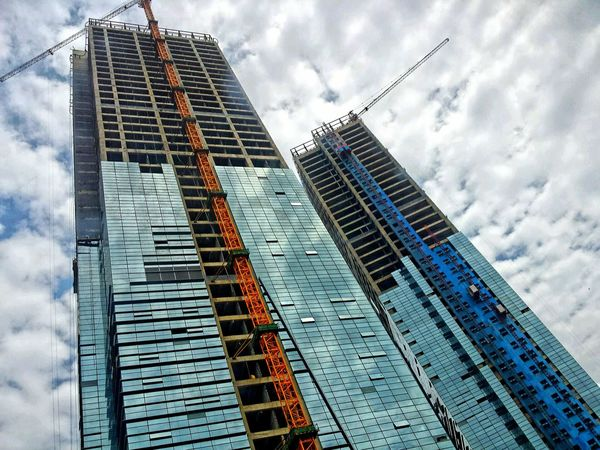 Getting to the Sky... Skyscraper Sky And Clouds Guiyang Streamzoofamily