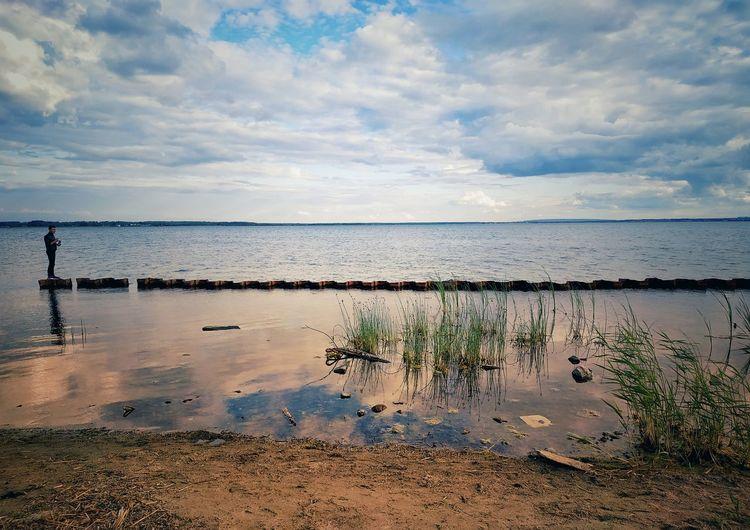Sunset Salt - Mineral Water Low Tide Sea Salt Basin Beach Reflection Sky Horizon Over Water Landscape