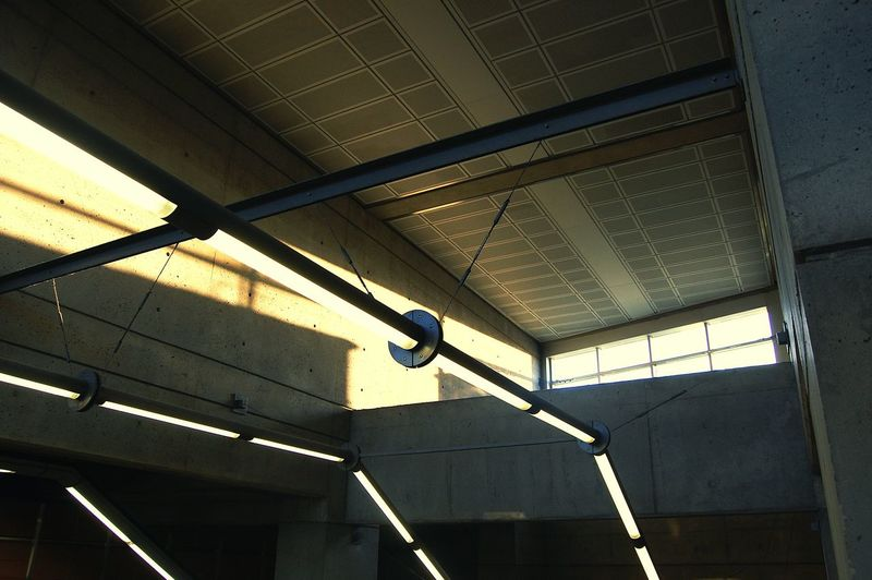 Ceiling Indoors  Low Angle View No People Built Structure Architecture Day Subway Light And Shadow Light Lights & Shadows Subway Station Subwayphotography Lights Effects STM Laval Metro Station Metrostation Subwaystation Canada Quebec Lumière The Secret Spaces