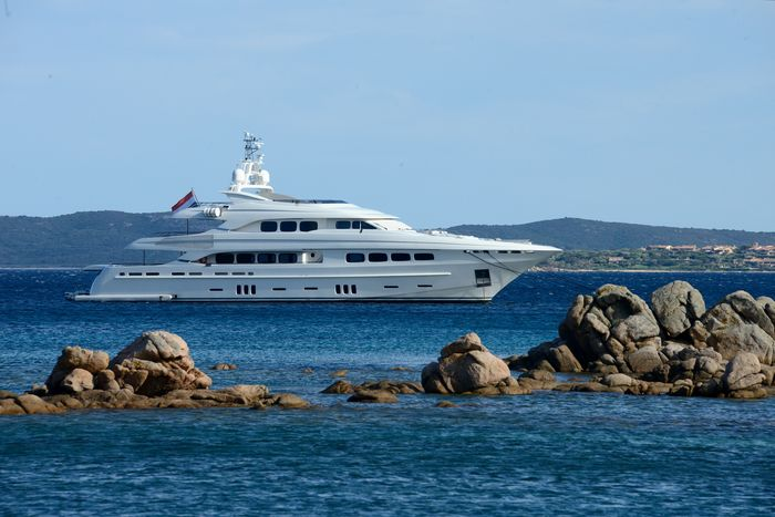 yacht in Costa Smeralda Clear Sky Costa Smeralda Day Maritime Photography Mountain Nature Nautical Vessel No People Outdoors Passenger Craft Rocks In Water Sardinia Sardegna Italy  Sea Summertime Transportation Travel Destinations Vacancy Water Yacht