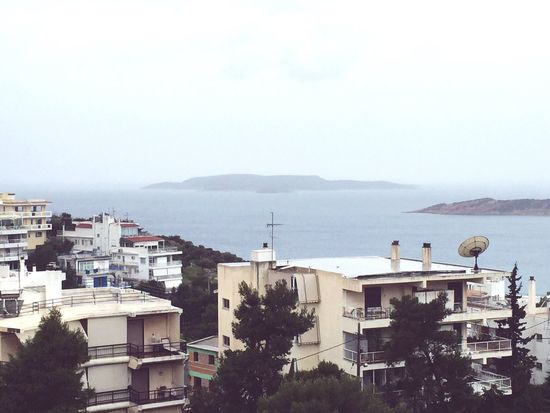 A shot taken during a very rainy day in Vouliagmeni . The island far away is Fleves , a very small and uninhabited island. Ilovegreece Natural Beauty Eyemphotography EyeEm Nature Lover Island Rain Cloudy