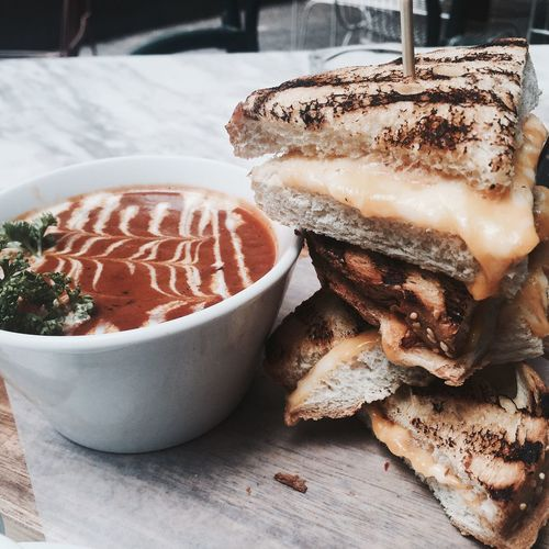 My World Of Food Early Bird Breakfast Club Grilled Cheese With Tomato Soup Manila, Philippines