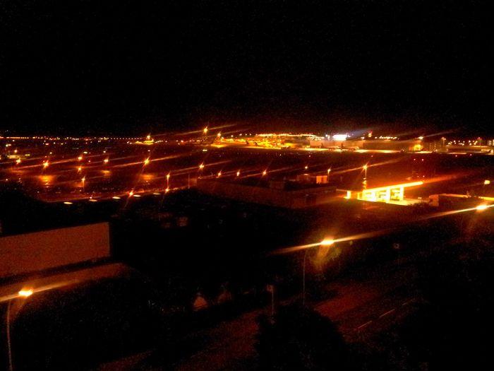 Hamburg Airport by night... Geocaching At The Airport Hamburg Airport Team Caching