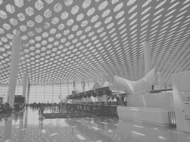 China Photos Beautiful Airport Architecture Black And White
