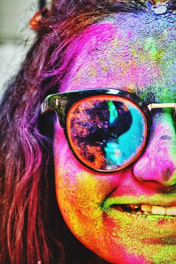 Happiness of the festival ♥️ #Best #holi #colors #festival FestivalOfColors First Eyeem Photo