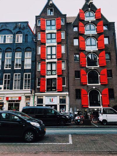 Amsterdam Amsterdamcity Exterior Redshutters Shutters City House Building Building Exterior