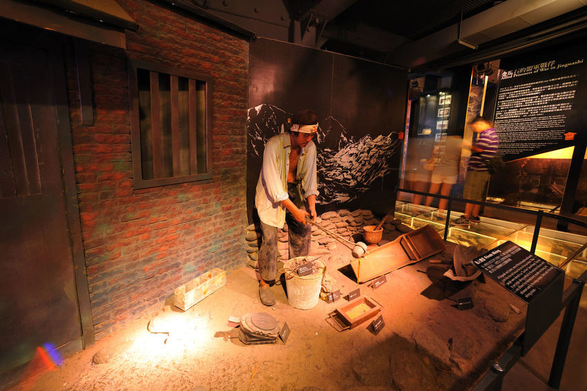 The New North City Gold Museum is a museum area that has been transformed from gold mines in the past. Located in the new North City, Taiwan Ruifang District, the Golden Melon Road, the mountain next to the mountain five pit, the site is the largest gold mining area in Asia. Gold Museum is located in the mountain town of melon stone, was established in November 2004, is to re-build the old Taiwan Metal Mining Co., Ltd. office Gold Melon Stone Nature Statue Wax Image Architecture Day Gold Museum Indoors  Men Mining Area Museum New Taipei City Occupation One Person People Real People Small Business Texture Wood - Material Working Workshop