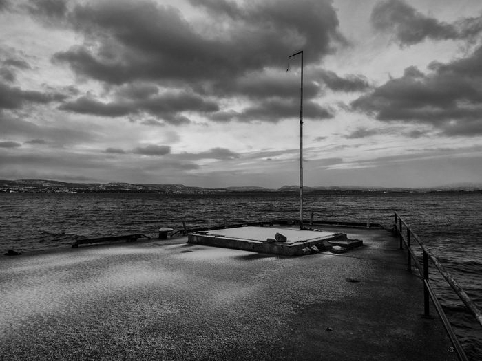 Afternoon Sun Black & White Cloud - Sky Horizon Over Water Industrial Landscapes Industrial Pier No People Norway Oslo Fjord Oslo, Norway Outdoors Scandinivia Sea Sky Sunset