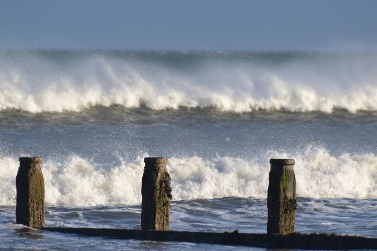 Rough sea on Christmas Day at Redcar Christmas Day