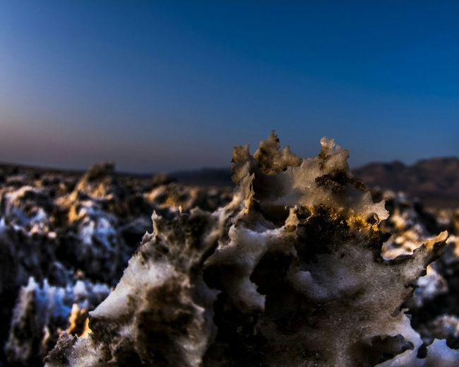 Desert ice cream - Devils Golf Course, Death Valley, california