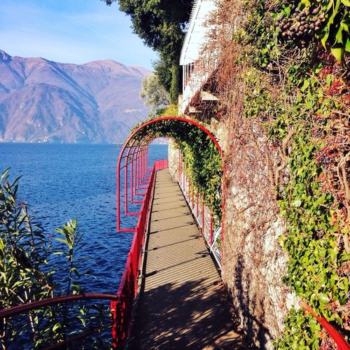 Clear Sky Lake Lakeview Lakecomo Peaceful Motivational Cliff