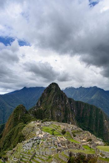 Machu Picchu Beauty In Nature Cloud - Sky Day Landscape Mountain Nature Outdoors Scenics Sky Travel Destinations The Traveler - 2018 EyeEm Awards