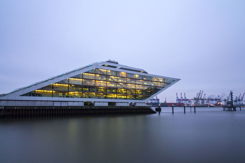 Dockland Architecture Beauty In Nature Building Exterior Built Structure Day Deutschland Dockland Germany Hamburg Nature No People Office Outdoors Sea Sky Tranquility Water