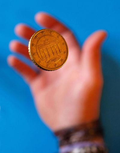 Toss up Chance Close-up Coin Hand Ideas Indoors  Lucky Selective Focus Still Life Token