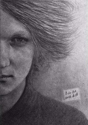 A person eight hours. Black&white Sketch Drawing Taking Photos