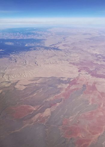Painted desert colors. Desert Landscape Drainage Channel Drainage Vertical Arid Landscape Erosion Aerial View Desert Colors Landscape Aerial View Scenics Beauty In Nature Tranquil Scene Nature Tranquility Outdoors Arid Climate No People View Into Land Desert Sky Sand