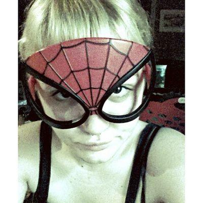 Spidey Girl! Spiderman Spidey Spidergirl Dork blonde selfie