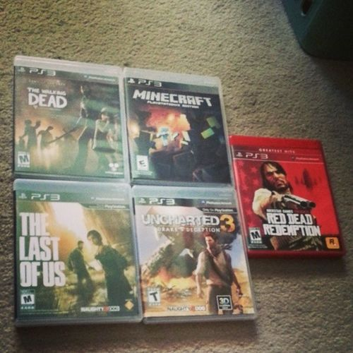 My PS3 game collection. 🎮 Ps3collection Girlgamers Thewalkingdead Minecraft Uncharted3 RedDeadRedemption TheLastOfUs gamer Mayfair filter