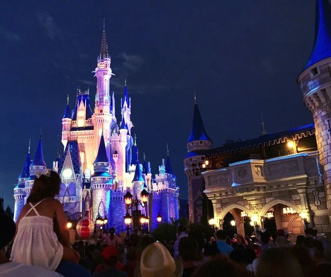 Disney World. DisneyWorld Magic Magic Kingdom Walt Disney Florida Orlando Childhood Magical Magic Moments Fireworks Night Watching
