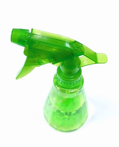 One thing to use in daily life White Background Bottle Science Environmental Issues Close-up Green Color