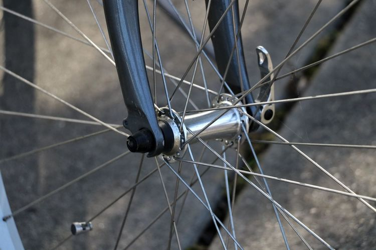 Close-Up Of Bicycle Wheel