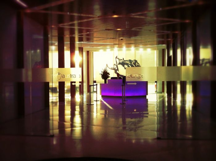 Checking in at Virgin Australia Lounge Checking In