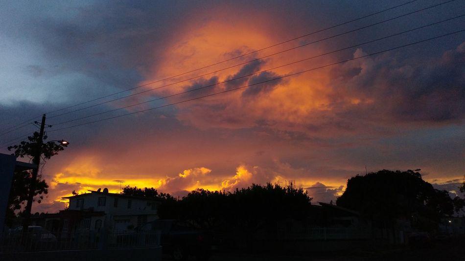 Fire sunset Sunset Vega Baja Redsunset