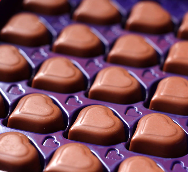 Backgrounds Chocolate Chocolate Heart Chocolate♡ Close-up Day Heart Indoors  Sweet Food