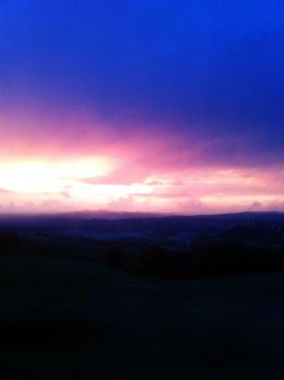 Sunset Sky Hello World Panorama