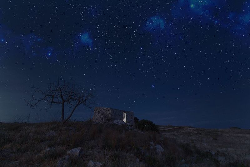 Return to home Sky Night Star - Space Astronomy Nature Tranquility No People Galaxy Star Field Beauty In Nature Outdoors Landscape Constellation Starry Milky Way Italy Italia Country Flower Head Home Architecture Sicily Sicilia Love