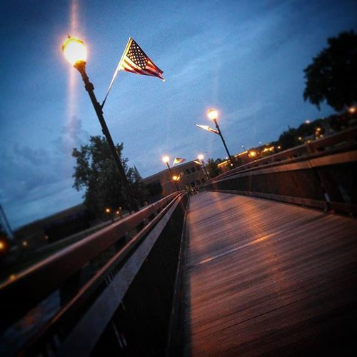Usflag Flag USA Us America Merica Lovethis Riverwalk Bridge