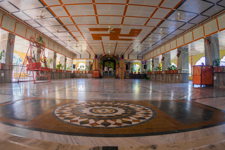 Wide View Of Temple Bright Architecture Built Structure Colorful Day Indoors  No People Temple