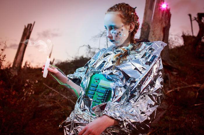 Cyborg Doomsday Earth Mars Trees Broken Tree Devastated Devastation Doom Ecology End Girl Humanoid One Person Poluted Earth Robot Robotics Technology