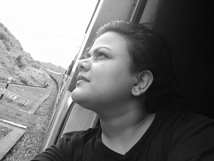 A trained selfie...😁 Going The Distance Monochrome Photography Shades Of Grey Train Journey Selfie ✌ The Week On EyeEm