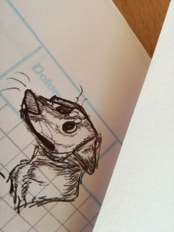 Paper Drawing - Art Product No People Close-up Indoors  Dog Animal Themes Domestic Animals Nocolor Sketch Shaded