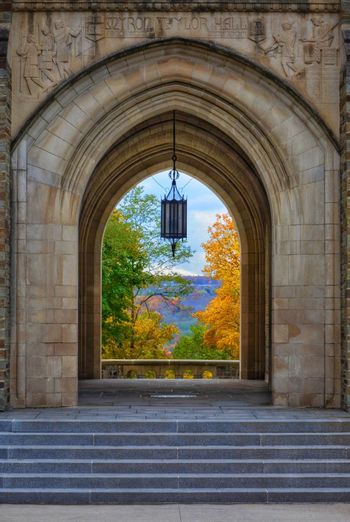 Myron Taylor Hall at Cornell EyeEm Gallery EyeEm Nature Lover Naturelover EyeEm Best Shots - Nature #ithaca #Cornell #university #foliage #autumn #fall #autumn Leaf #autumn #fall #leaf Nature_collection Nature Hanging Arch Architecture Built Structure Entryway Historic