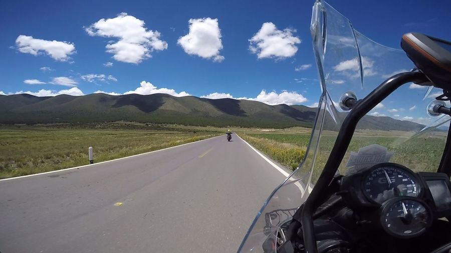 Nothing compares to a nice weekend ride with this beautiful landscape... Riding Motorcycle Landscape Weekend Blue Sky And Clouds Colour Of Life